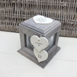 Shabby Chic PERSONALISED Rustic Wood In Memory Of WIFE Or ANY NAME Photo Cube